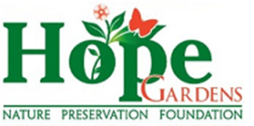 This image has an empty alt attribute; its file name is Hope_Gardens_Nature_Preservation_Foundation_Logo.png
